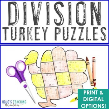 Thanksgiving Math Centers: Division Turkey Puzzles