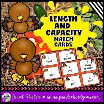 Thanksgiving Math Activities FREE (Length and Capacity Mat