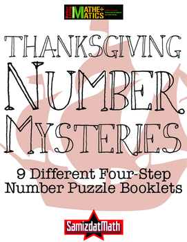 Thanksgiving Math Number Mystery Booklets - 4 Step Problem
