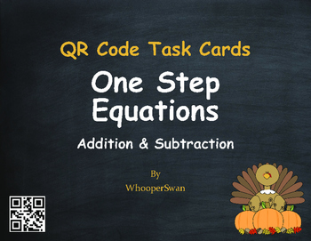 Thanksgiving Math: One Step Equations (Addition & Subtract