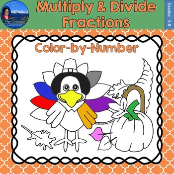 Multiply & Divide Fractions Math Practice Thanksgiving Col