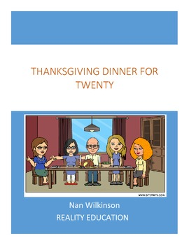 Thanksgiving Math Project - Dinner for 20