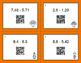 Thanksgiving Math: Subtracting Decimals QR Code Task Cards