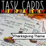 Thanksgiving Math Task Cards SCOOT 3rd grade 4th grade TEKS CCSS