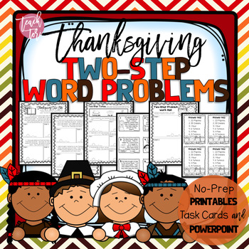 Thanksgiving Math Two-Step Word Problems