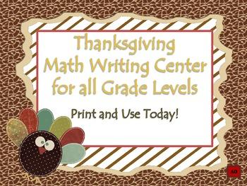 Thanksgiving Math Writing Center