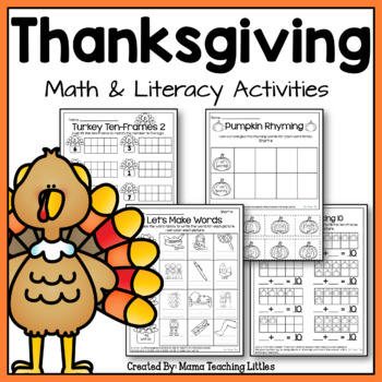 Thanksgiving Activities Bundle - Math and Literacy - No Pr