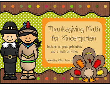 Thanksgiving Math for Kindergarten