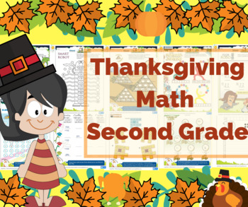 Thanksgiving Math for Second Grade / 2nd Grade - Math Game