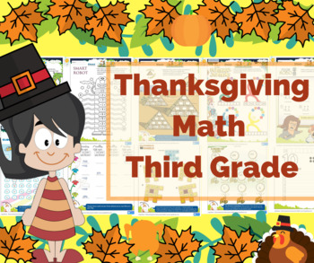 Thanksgiving Math for Third Grade / 3rd Grade - Math Games