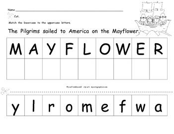 Thanksgiving- Mayflower Letter Match (Uppercase/Lowercase)