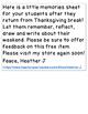 Thanksgiving Memories Sheet  { Free }