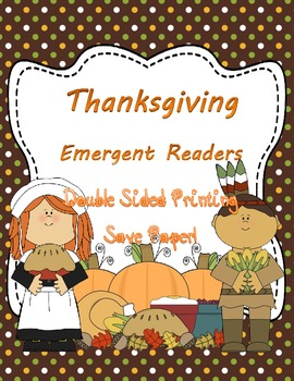 Thanksgiving Mini Emergent Readers- Double Sided Printing-