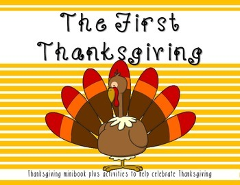 Thanksgiving Minibook about the first Thanksgiving plus ac