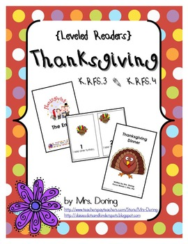 Thanksgiving Minibooks ENGLISH {Leveled Readers}