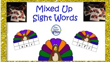 Thanksgiving Mixed Up Sight Words