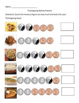 Thanksgiving Money Practice