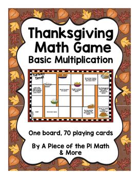 Thanksgiving Multiplication Game