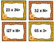 Thanksgiving Task Card Multiplication Problems