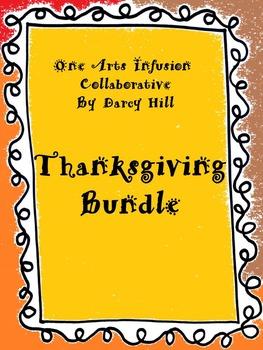 Thanksgiving Music Bundle: Sheet Music & mp4 Files for 3 S