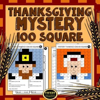 10 More 10 Less Mystery 100 Square for Thanksgiving (First Grade)