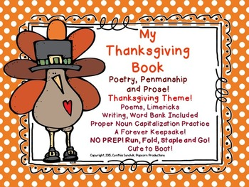 Kinder-2nd Thanksgiving Reading and Writing! FALL into a F