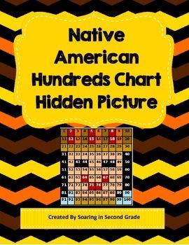 Thanksgiving Native American Hundreds Chart Hidden Picture