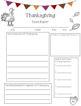 Thanksgiving News Report