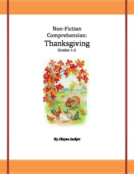 Thanksgiving Non-Fiction Comprehension Pack