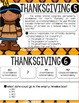 Thanksgiving Non-Fiction Reading Task Cards