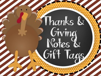 Thanksgiving Notes & Gift Tags