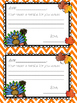 Thanksgiving Notes for Students