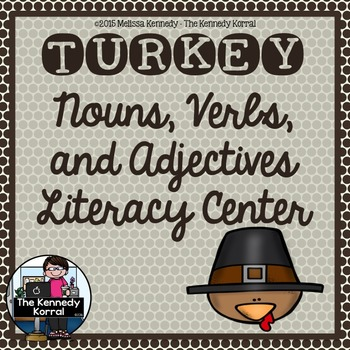 Thanksgiving Nouns, Verbs, Adjectives {Anchor Charts, Cent