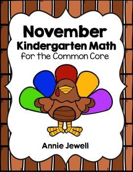 Thanksgiving and November Kindergarten Math Activities and