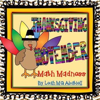 Thanksgiving/November Math Madness