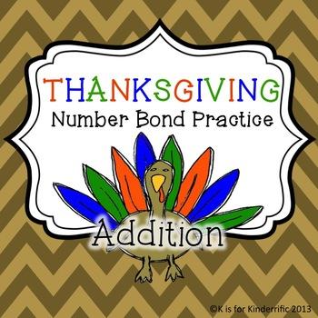 Thanksgiving Number Bonds Practice (Addition)