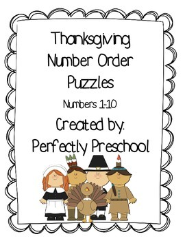 Thanksgiving Number Order Puzzles {Dollar Deal}