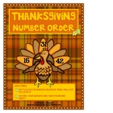 Thanksgiving Number Order