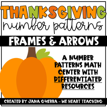 Thanksgiving Number Patterns- A Frames and Arrows Math Cen