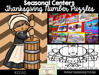 Thanksgiving Number Puzzles: Number Identification and Sequencing