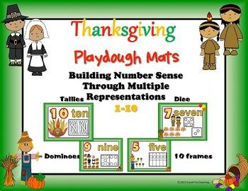 Thanksgiving Number Sense Playdough Mats Bundle