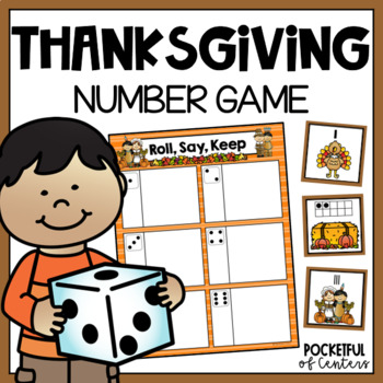 Thanksgiving Numbers Roll, Say, Keep Game