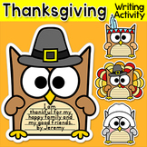 Thanksgiving Writing Owl Theme Bulletin Board: Thanksgivin