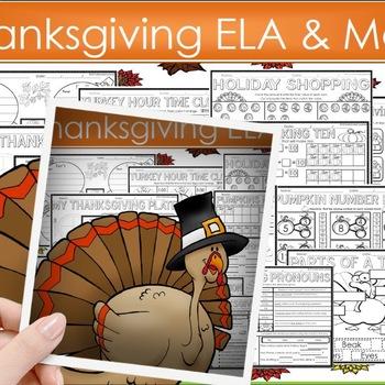 Thanksgiving Activities Thanksgiving Math & Literacy Works