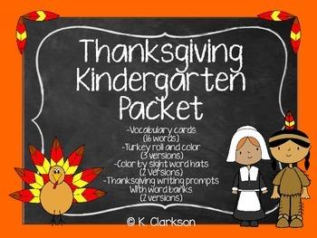 Thanksgiving Kindergarten Activities Packet {Bundle-Math,