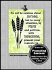 Philippians 4:6 Thanksgiving Bible Verse Quote Poster Clas