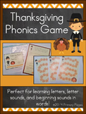 Thanksgiving Phonics Game- An Alphabet Literacy Center