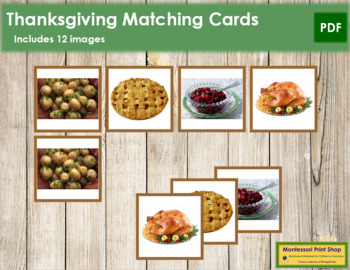 Thanksgiving Photo Matching Cards