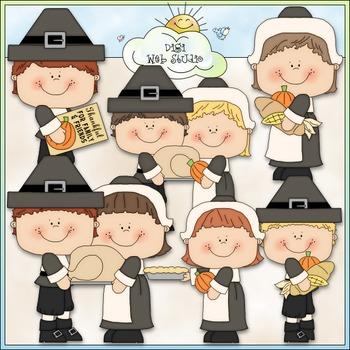 Thanksgiving Pilgrim Family Clip Art - Thanksgiving Clip A