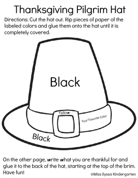 Thanksgiving Pilgrim Hat (Social Studies Writing Fine Moto